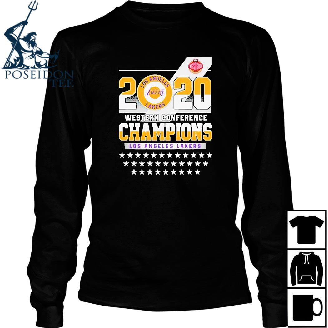 Los Angeles Lakers Western Conference Champions 2020 Shirt Long Sleeved