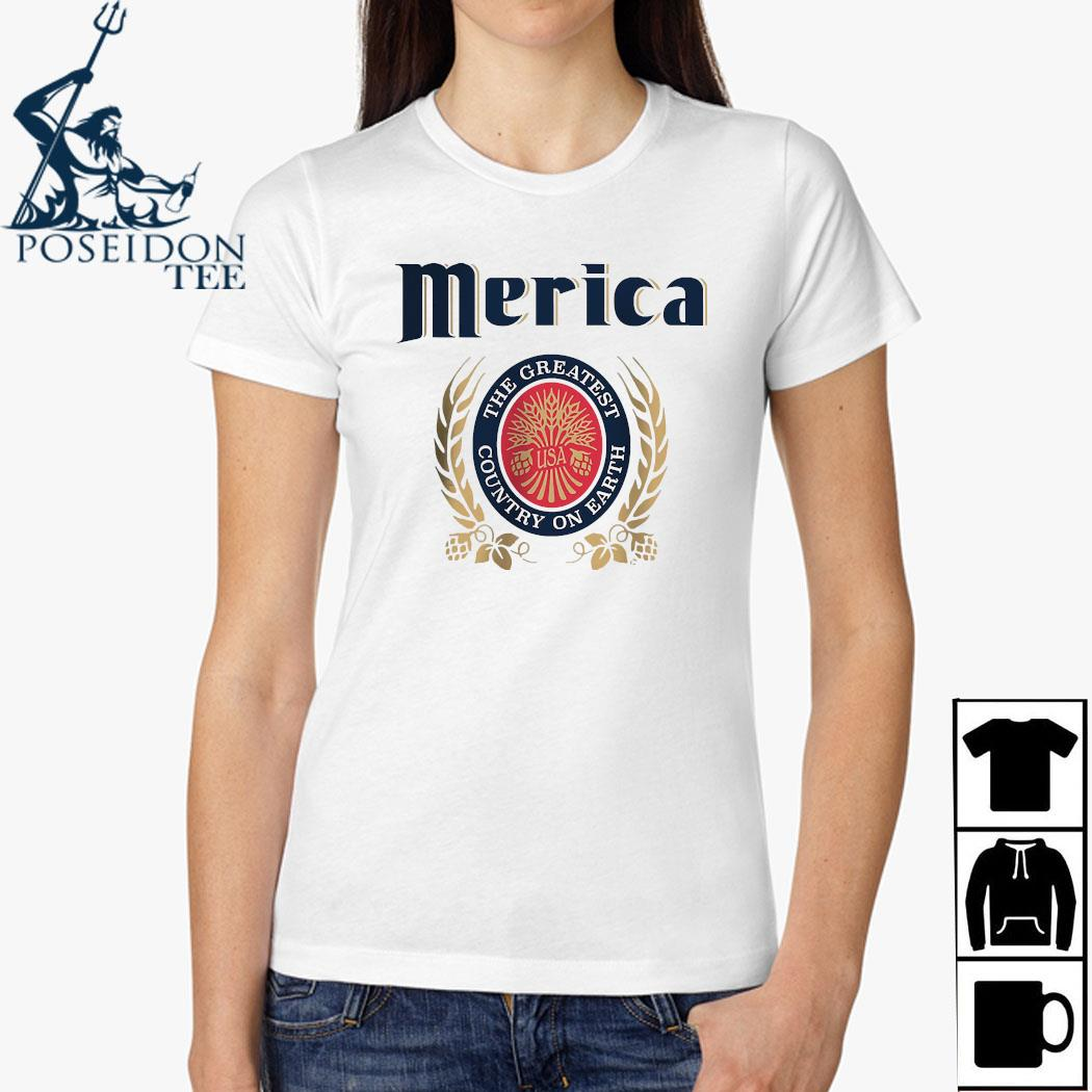 Merica The Greatest Country On Earth Shirt Ladies Shirt