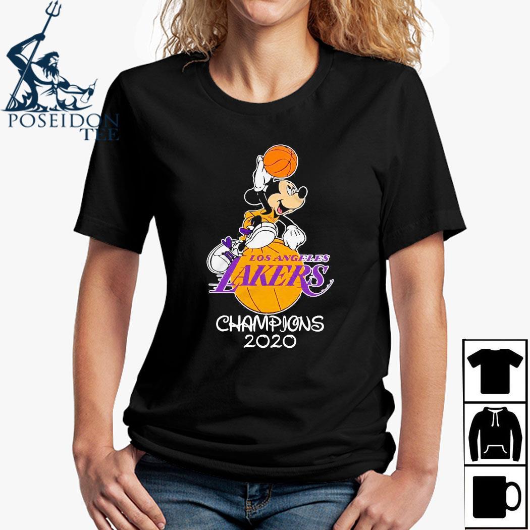 Mickey Mouse Los Angeles Lakers Champions 2020 Shirt Ladies Shirt