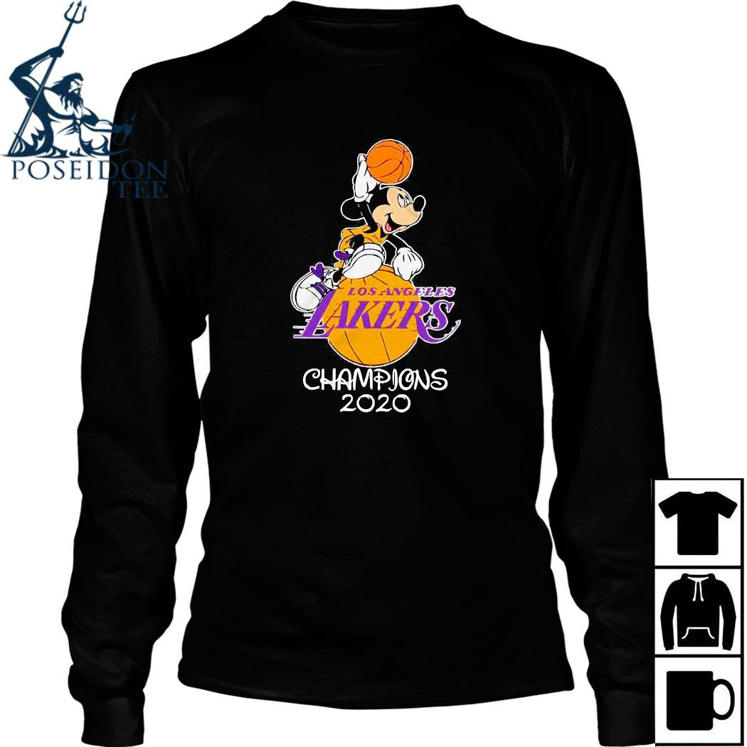Mickey Mouse Los Angeles Lakers Champions 2020 Shirt Long Sleeved