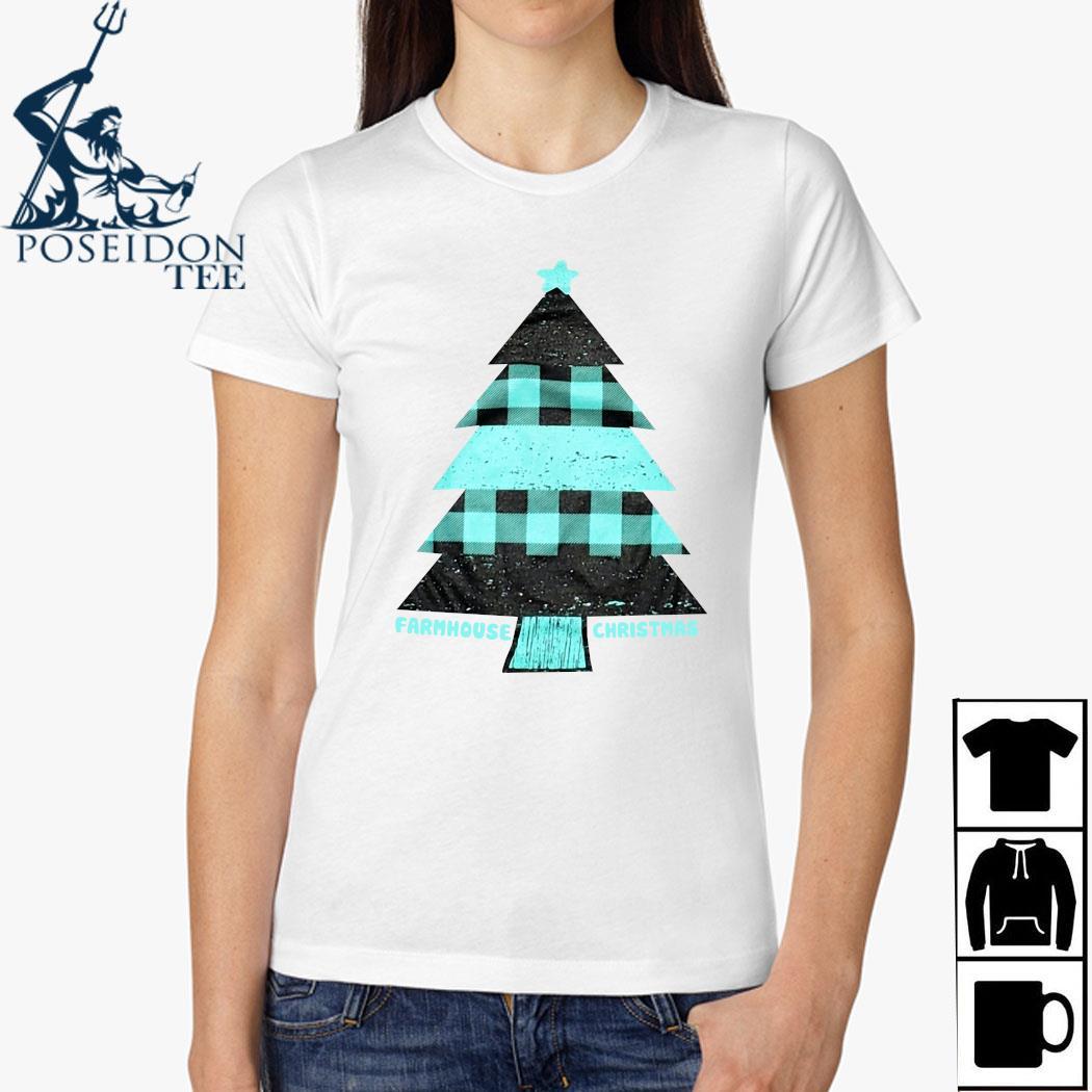 Mint Farmhouse Christmas Raglan Shirt Ladies Shirt