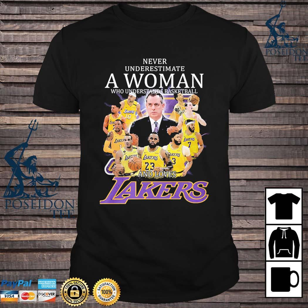 Never Underestimate A Woman Who Understands Baseball And Loves Lakers Shirt
