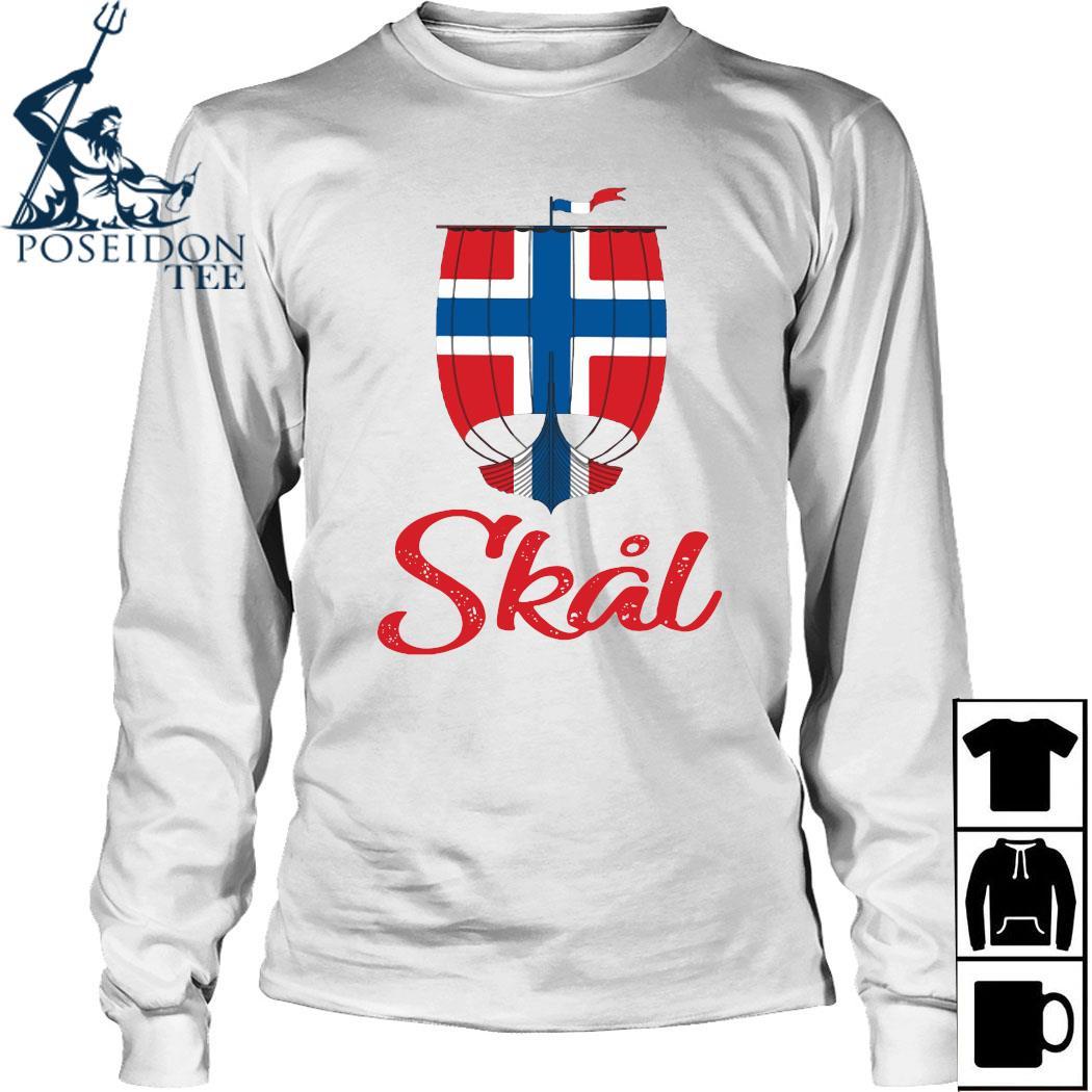 Norwegian Skal Viking Flag Shirt Long Sleeved