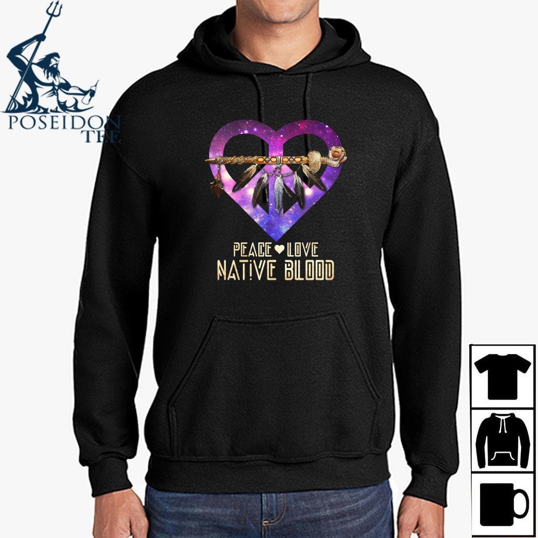 Peace Love Dative Blood Shirt Hoodie