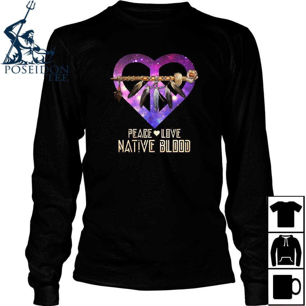 Peace Love Dative Blood Shirt Long Sleeved