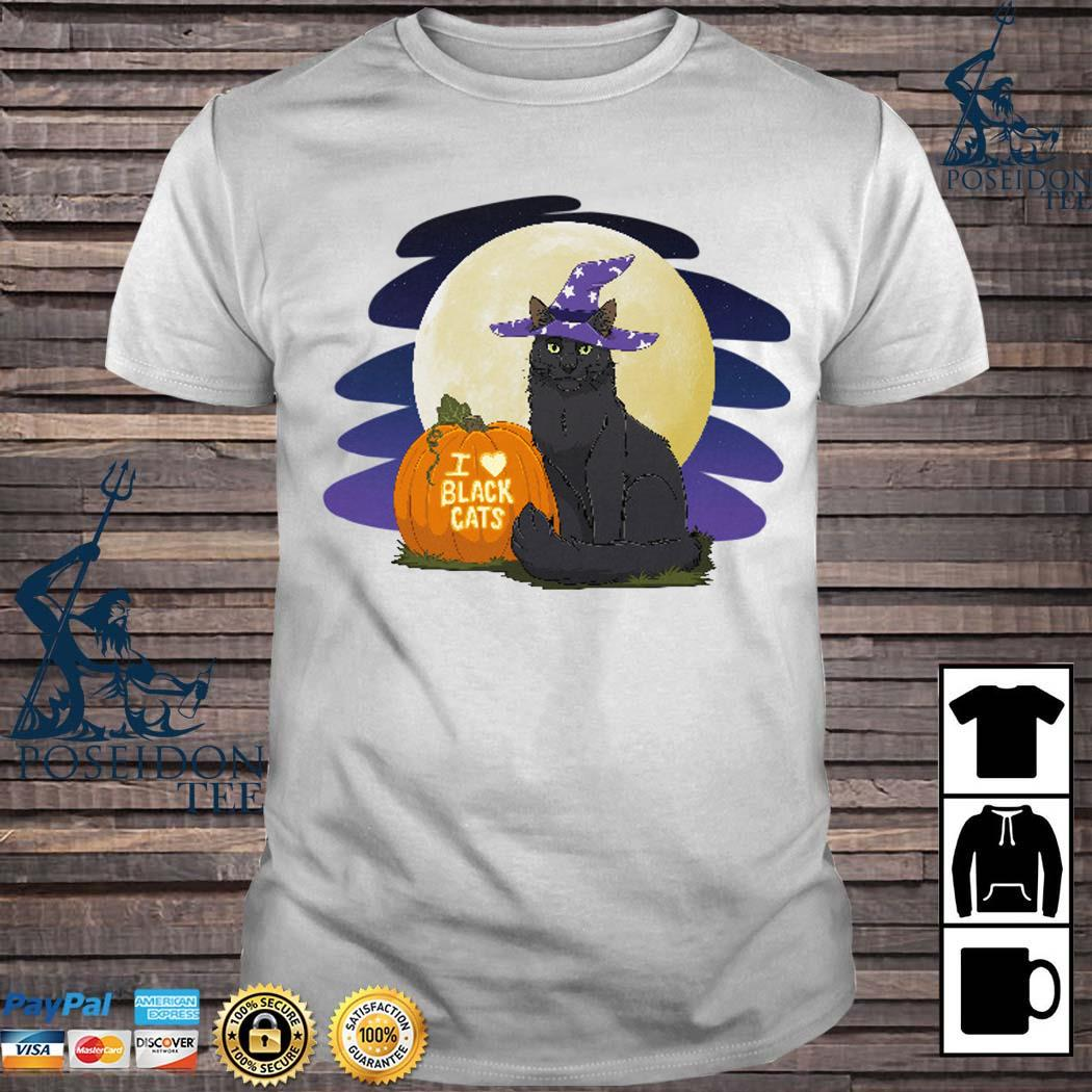 Pumpkin I Love Black Cat Shirt