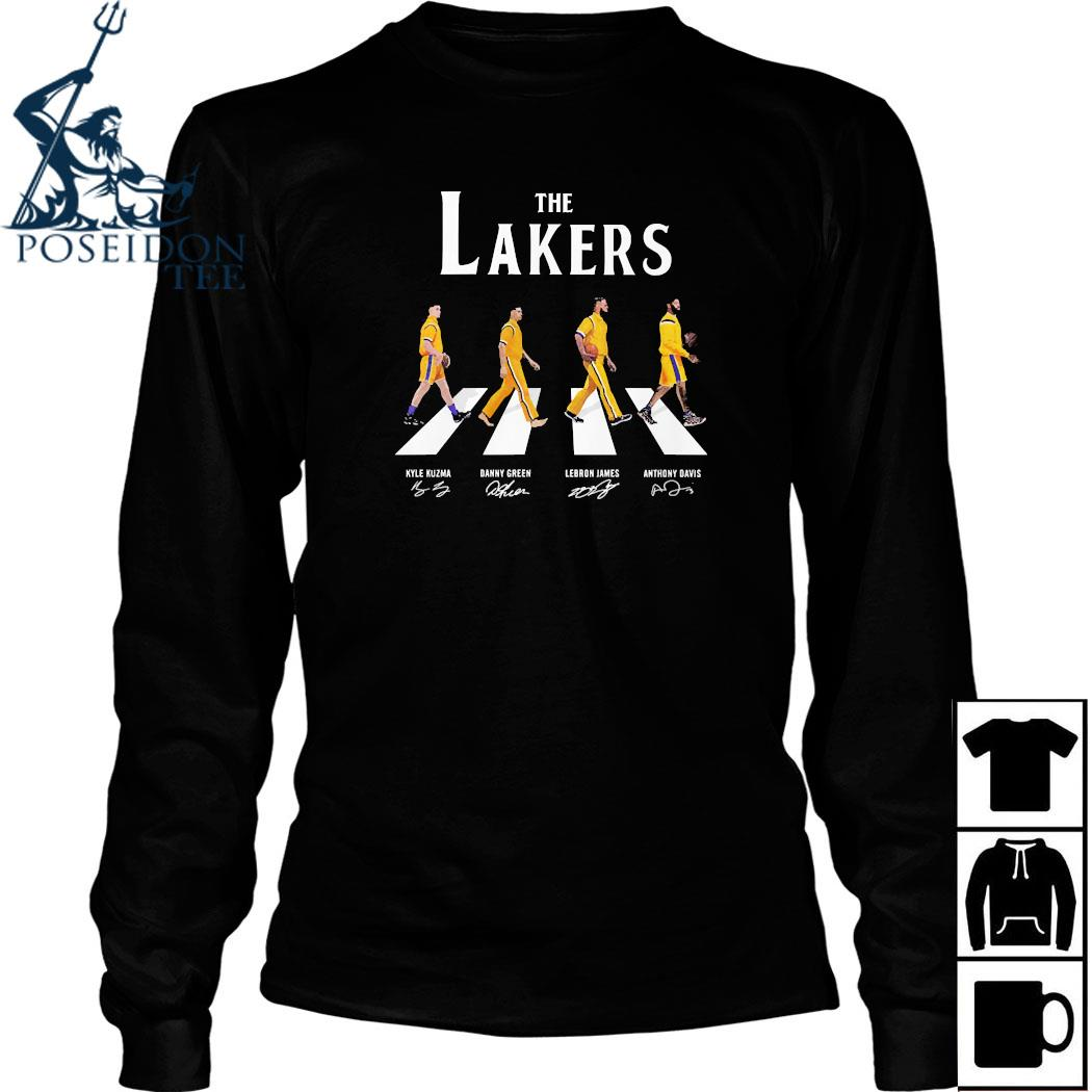 The Lakers Abbey Road Signatures Shirt Long Sleeved