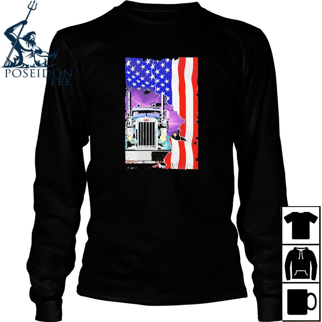 Trucker American Flag Shirt Long Sleeved