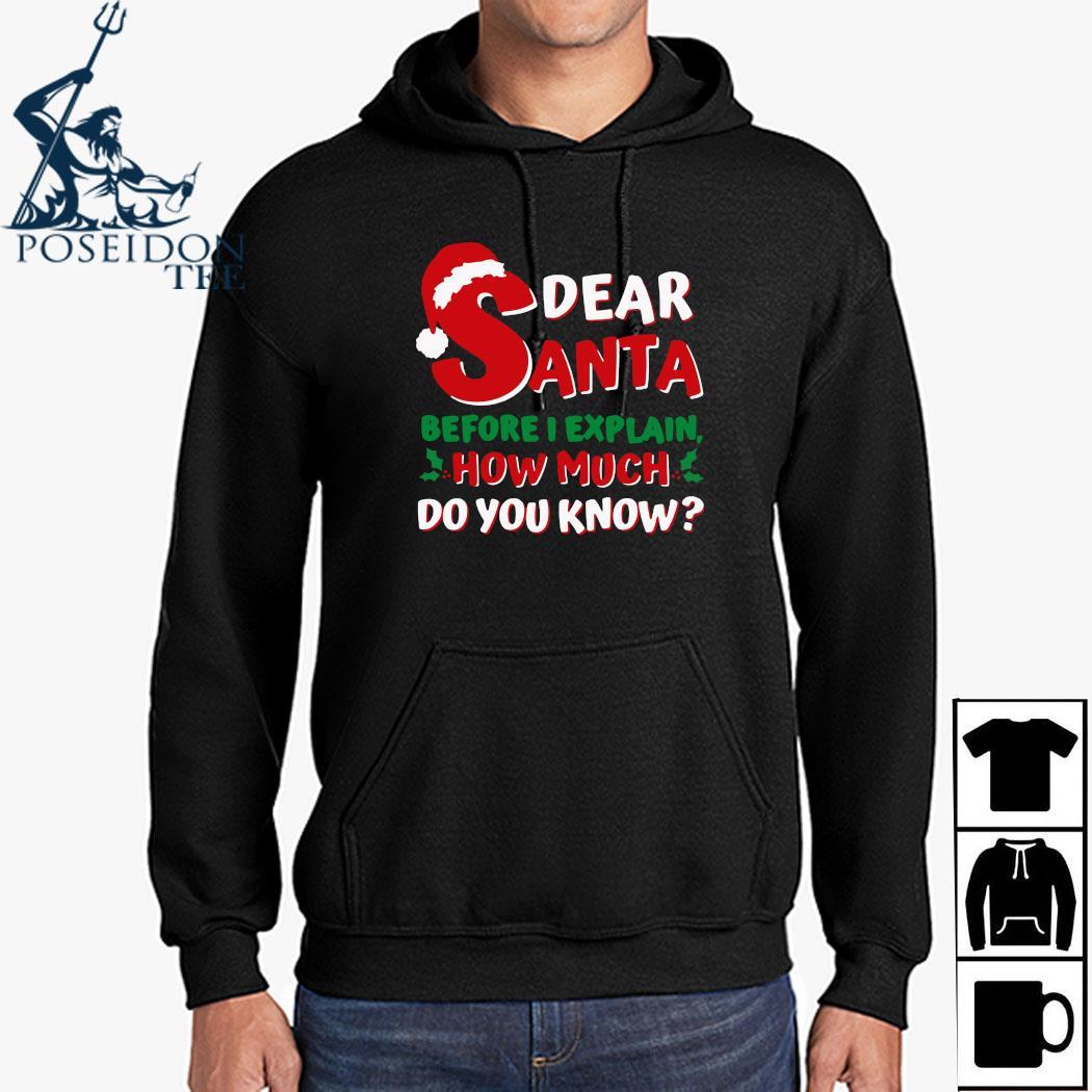 Dear Santa Before I Explain How Much Do You Know Shirt Hoodie