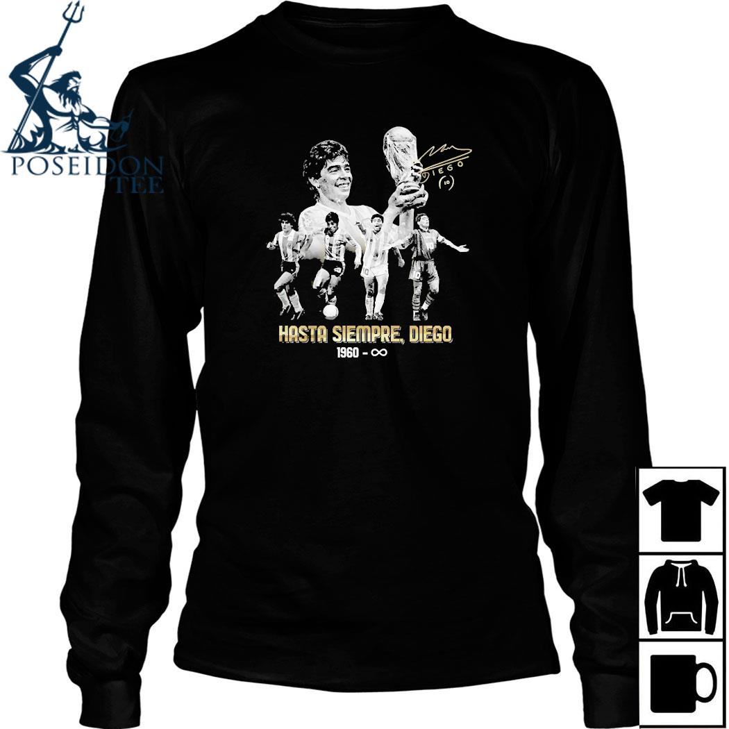Diego Maradona Hasta Siempre Diego 1960 Shirt Long Sleeved