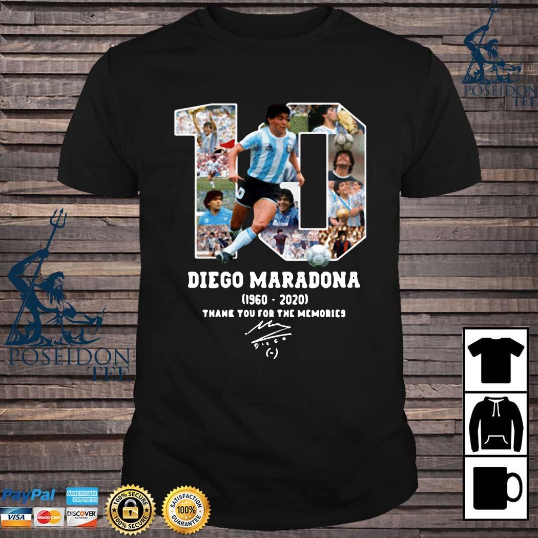 Diego Maradona Thank You For The Memories 1960-2020 Shirt
