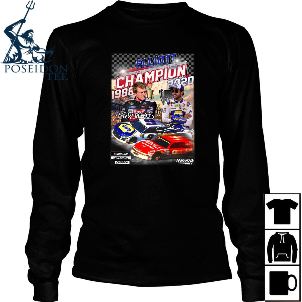 Elliott Nascar Cup Series Champion 1988 2020 Signature Shirt Long Sleeved