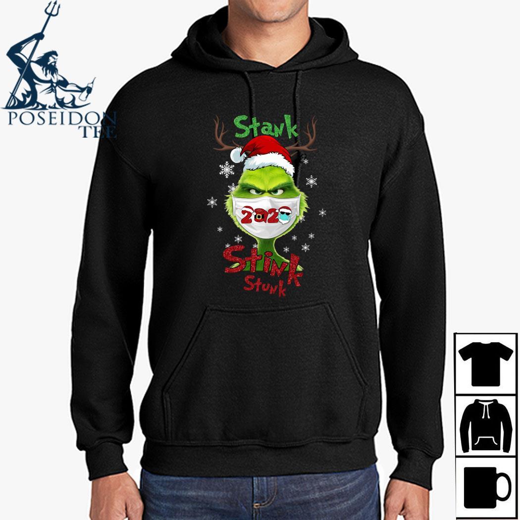 Grinch Face Mask Stank Stink Stunk Christmas Shirt Hoodie