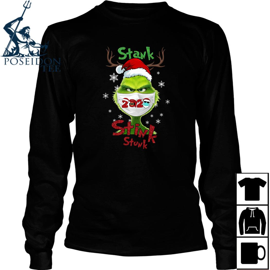 Grinch Face Mask Stank Stink Stunk Christmas Shirt Long Sleeved