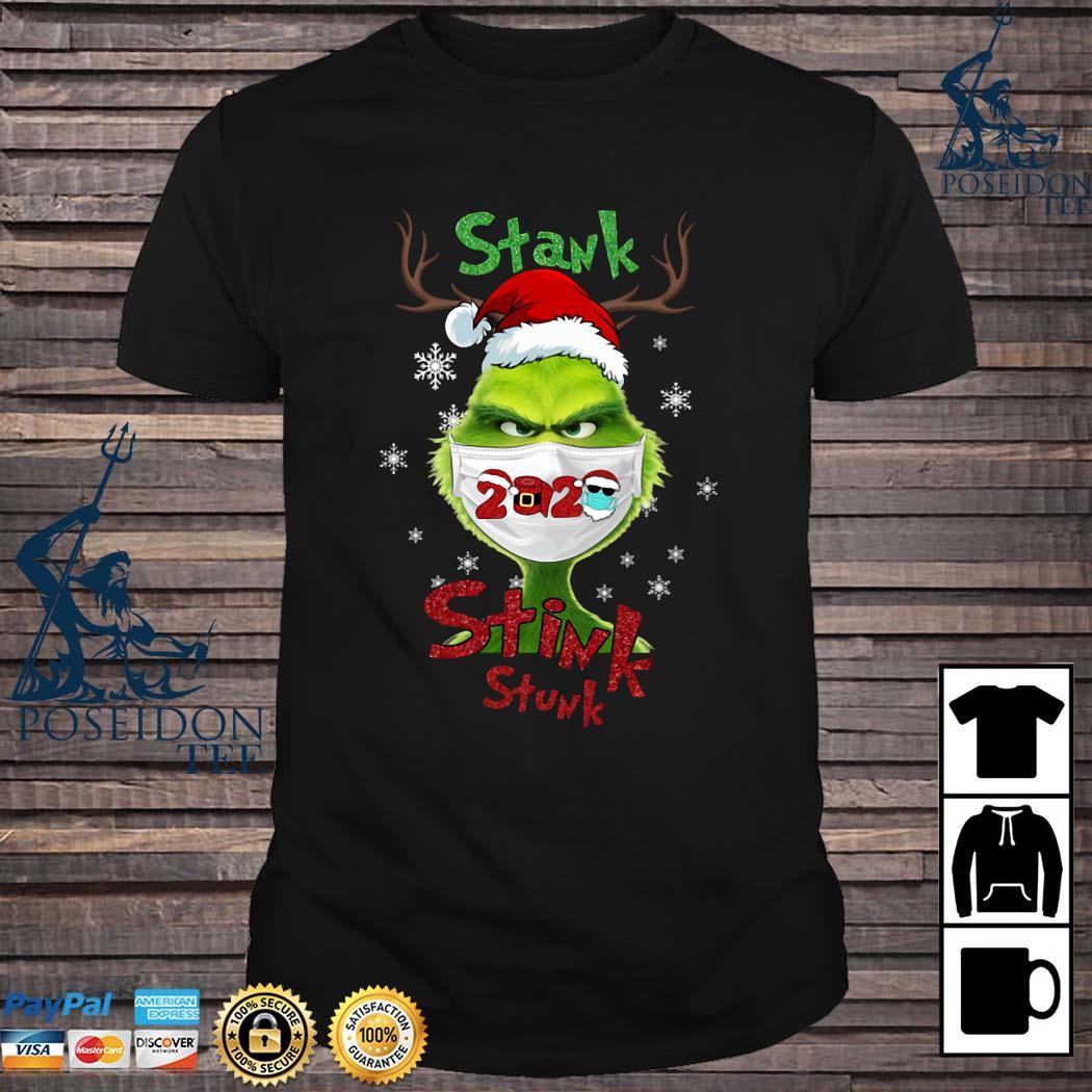 Grinch Face Mask Stank Stink Stunk Christmas Shirt