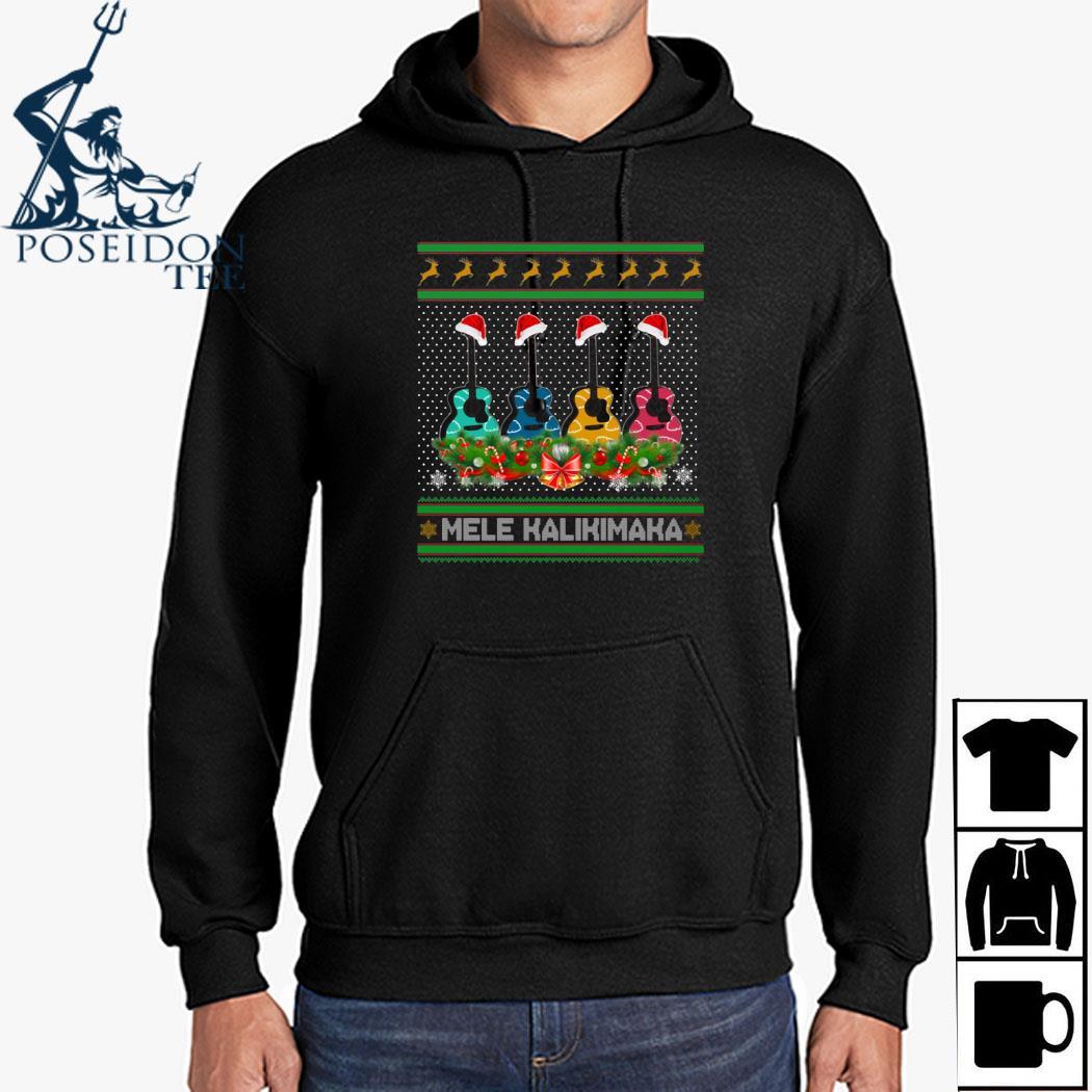 Guitar Mele Kalikimaka Christmas Shirt Hoodie
