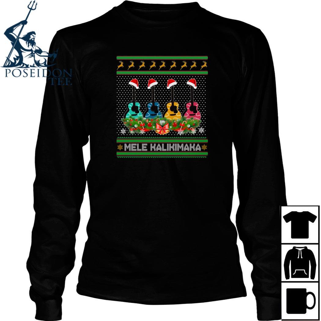 Guitar Mele Kalikimaka Christmas Shirt Long Sleeved