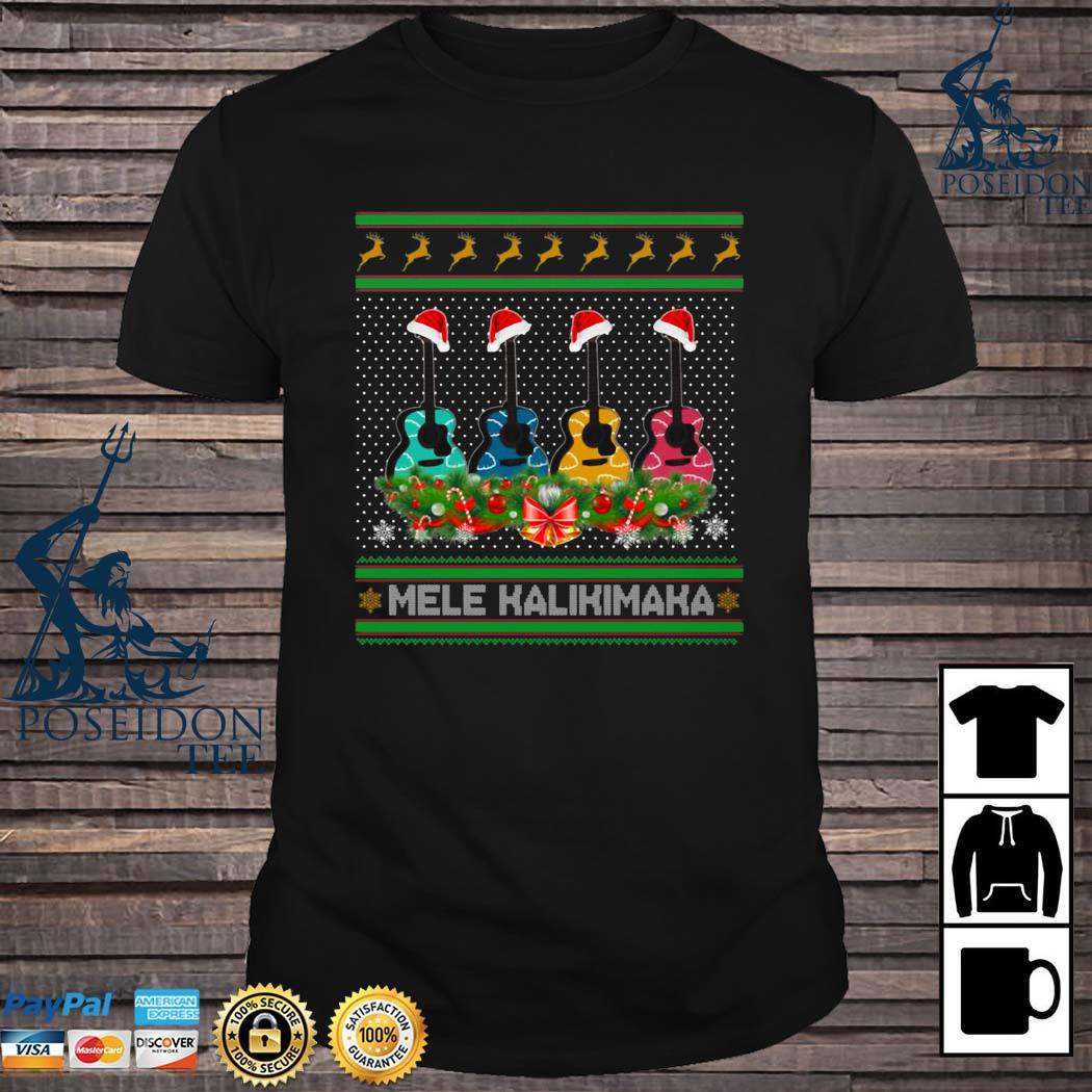 Guitar Mele Kalikimaka Christmas Shirt