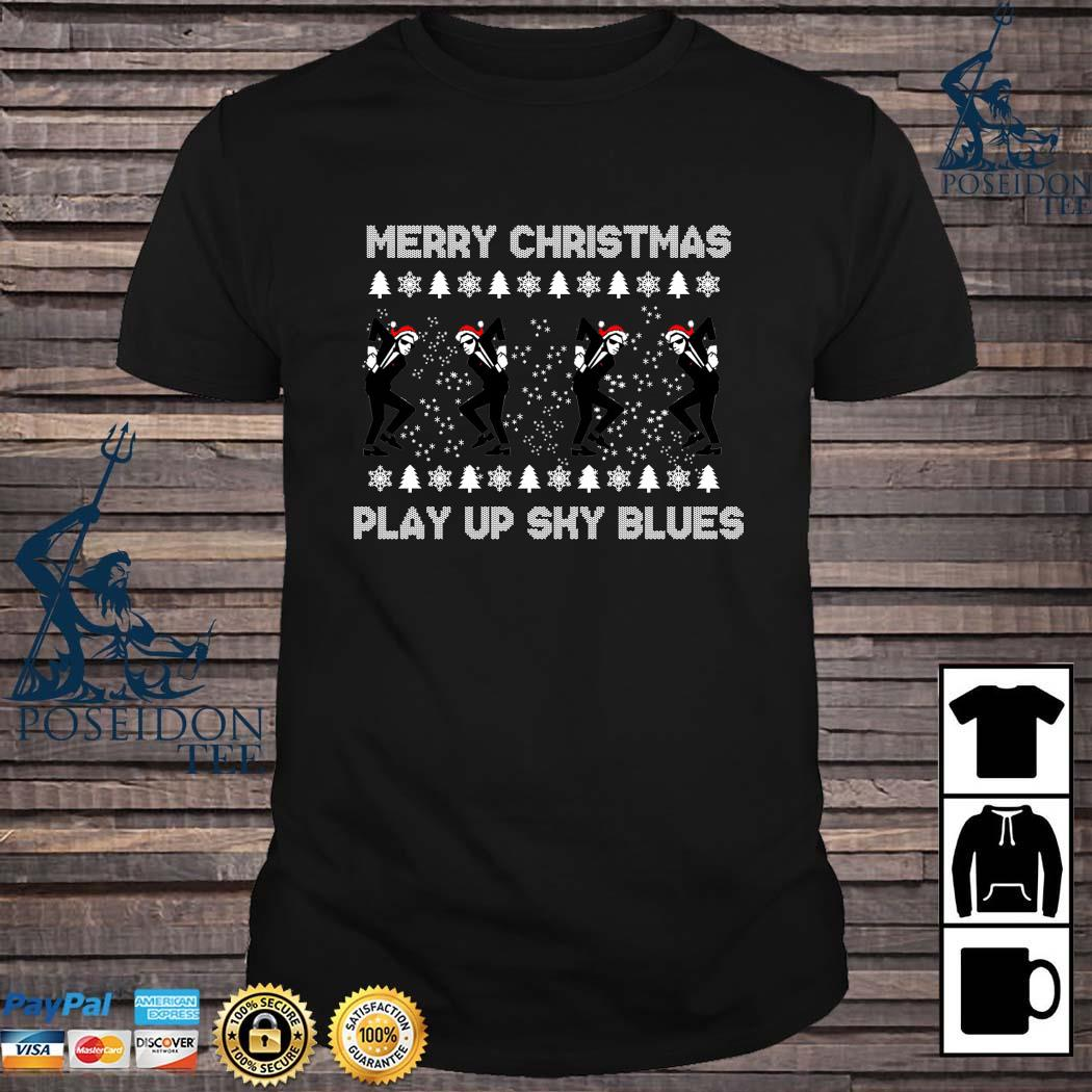 Merry Christmas Play Up Sky Blues Sweater