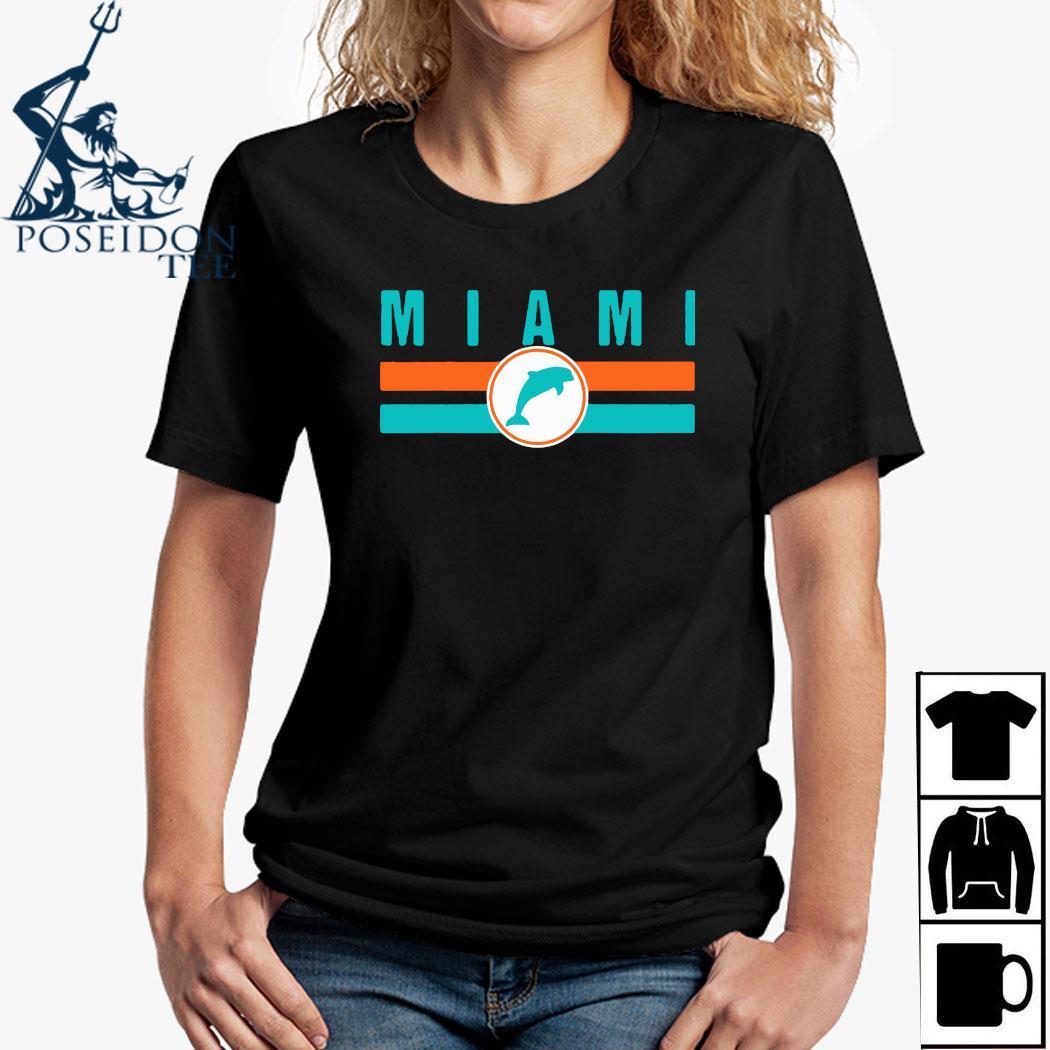 MIA Miami Local Standard MIA Retro Dolphin Miami FL Shirt Ladies Shirt