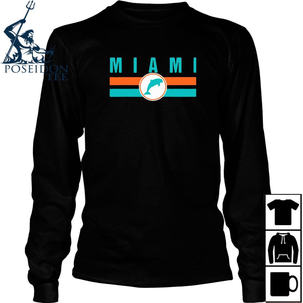 MIA Miami Local Standard MIA Retro Dolphin Miami FL Shirt Long Sleeved