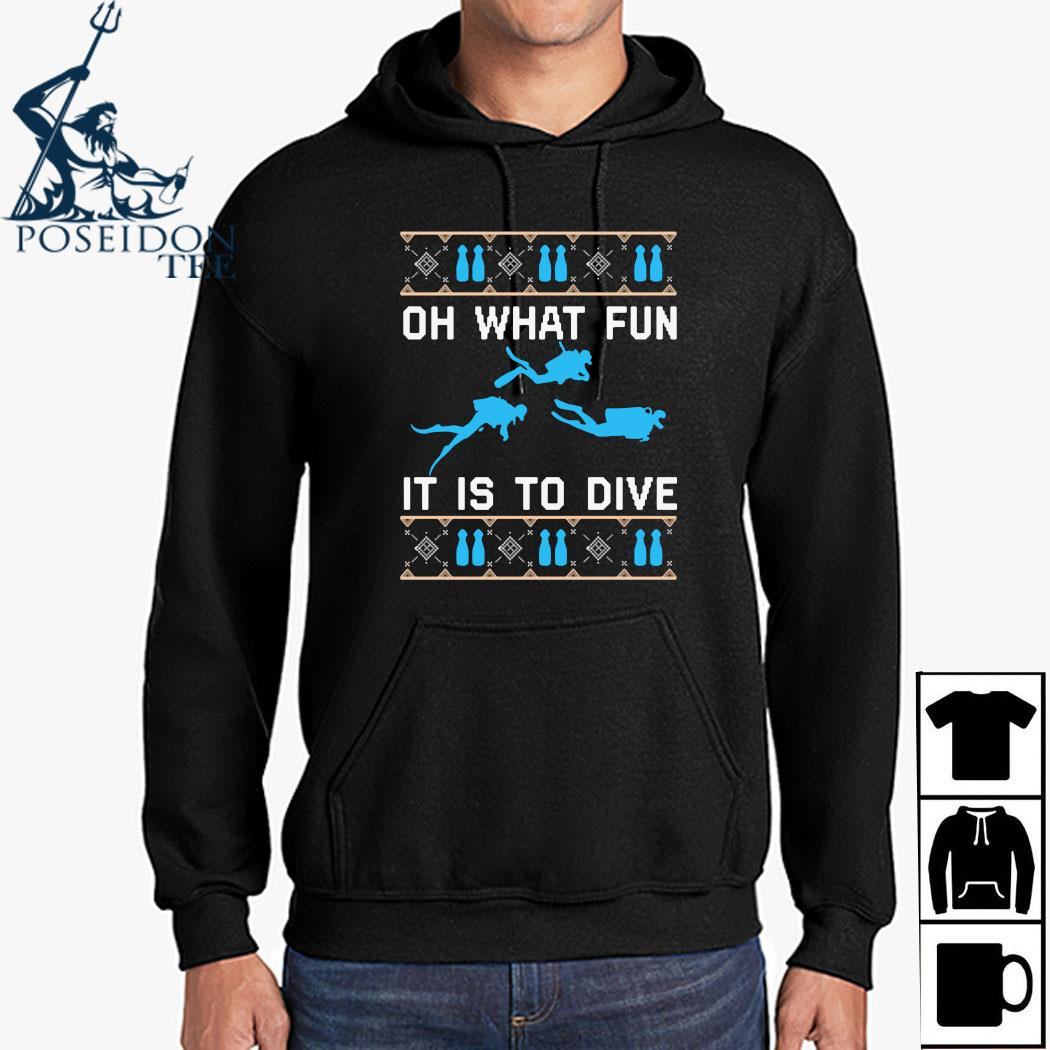On What Fun It Is To Dive Christmas Sweats Hoodie