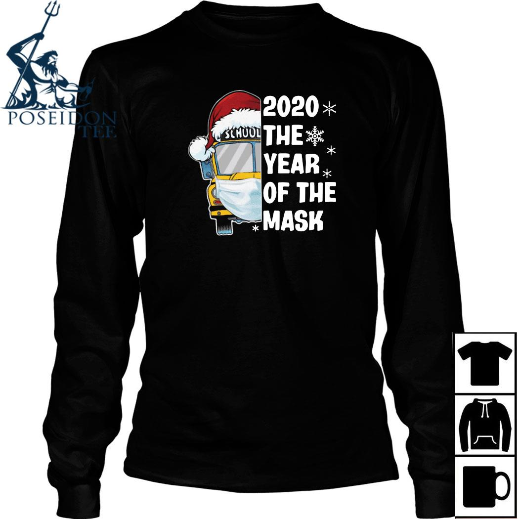 School Bus 2020 The Year Of The Mask Christmas Shirt Long Sleeved