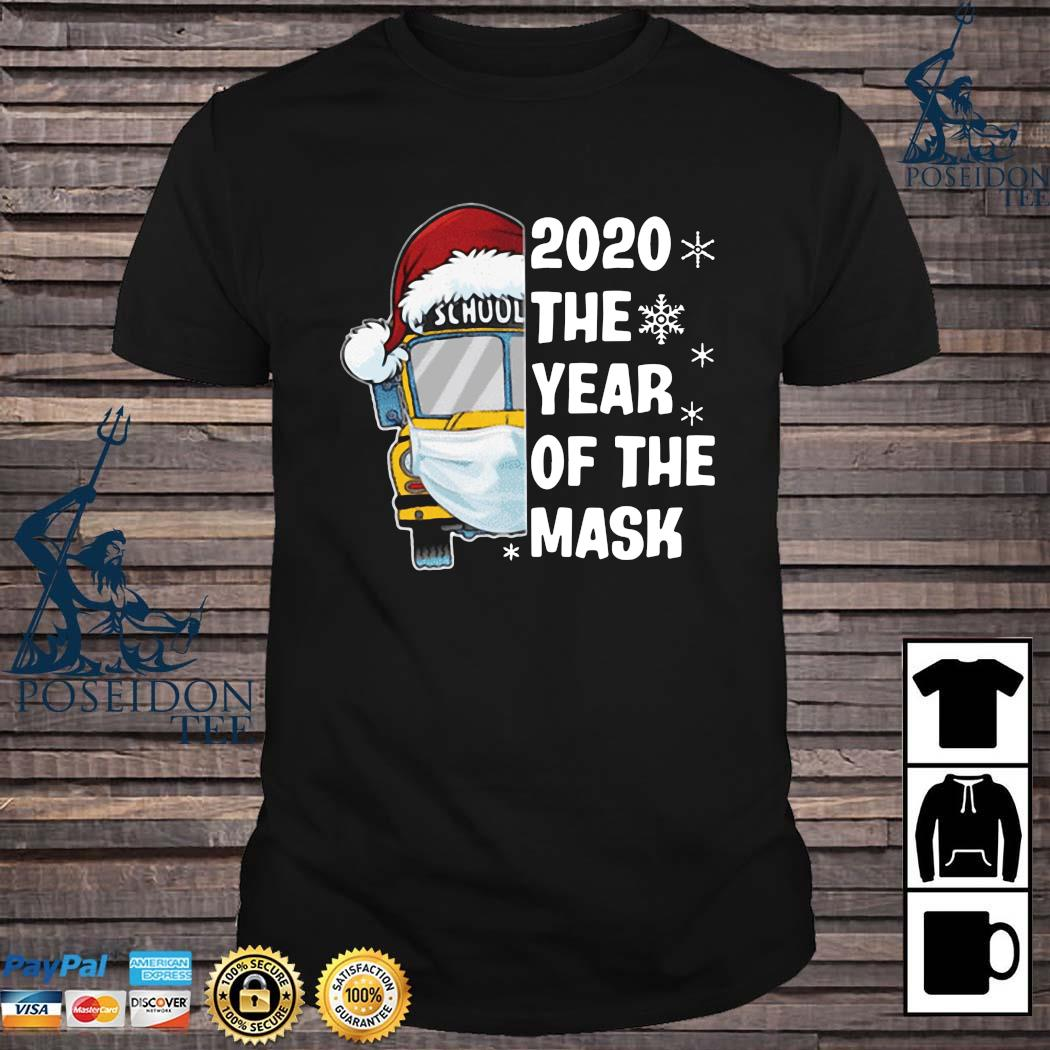 School Bus 2020 The Year Of The Mask Christmas Shirt