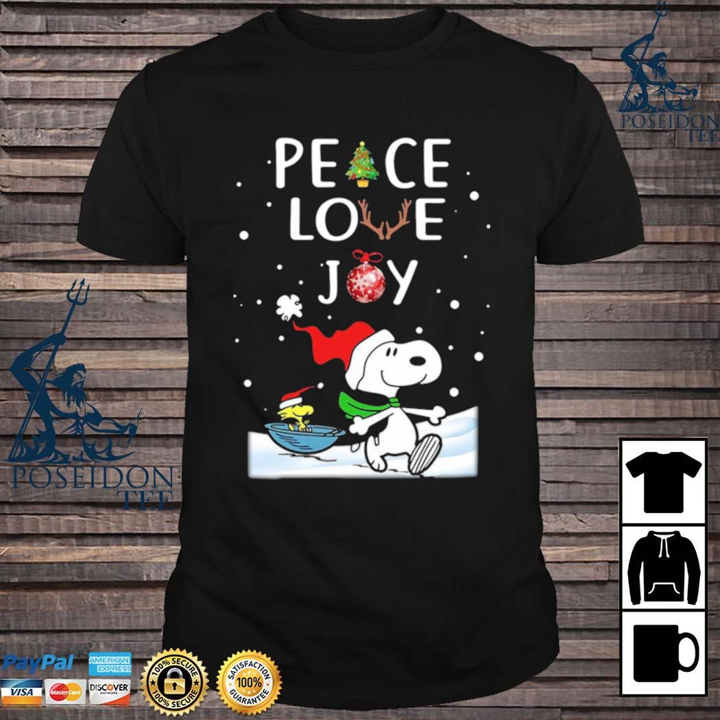 Snoopy Peace Love Joy Christmas Shirt