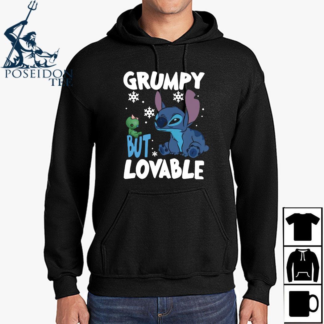 Stitch Grumpy But Lovable Christmas Shirt Hoodie