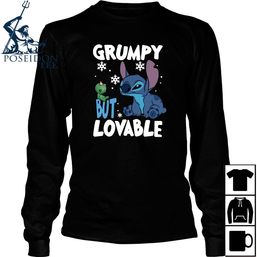Stitch Grumpy But Lovable Christmas Shirt Long Sleeved