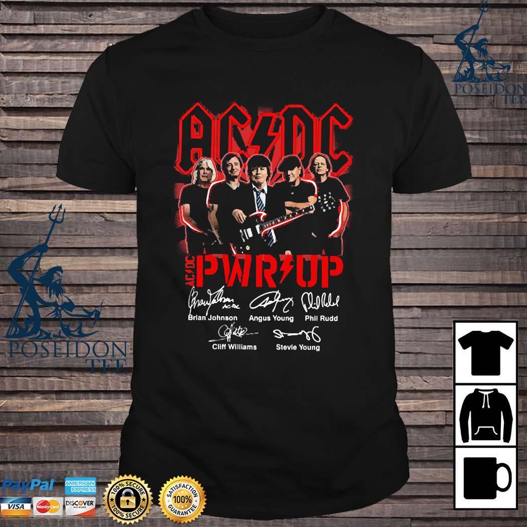 AC DC PWR Up Signatures Shirt