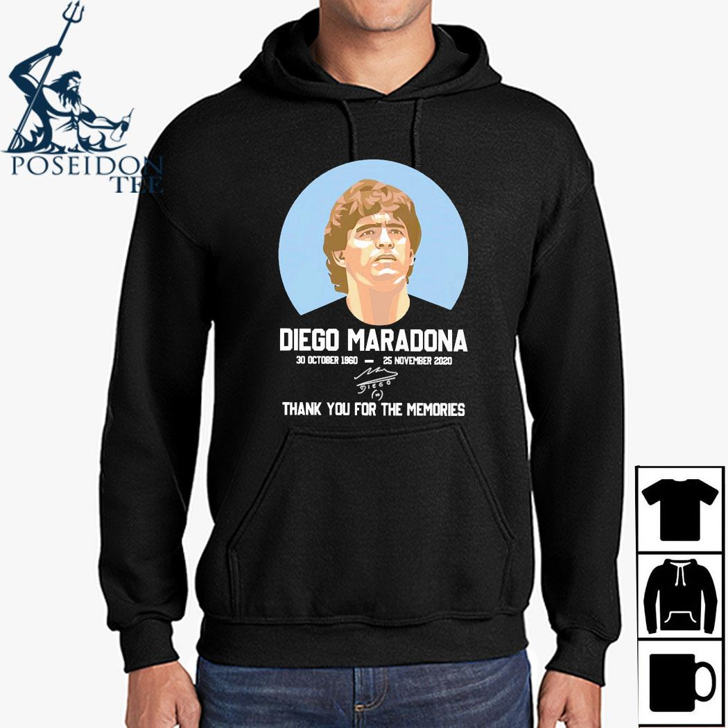 Diego Maradona 30 October 1960-25 November 2020 Thank You For The Memories Signature Shirt Hoodie