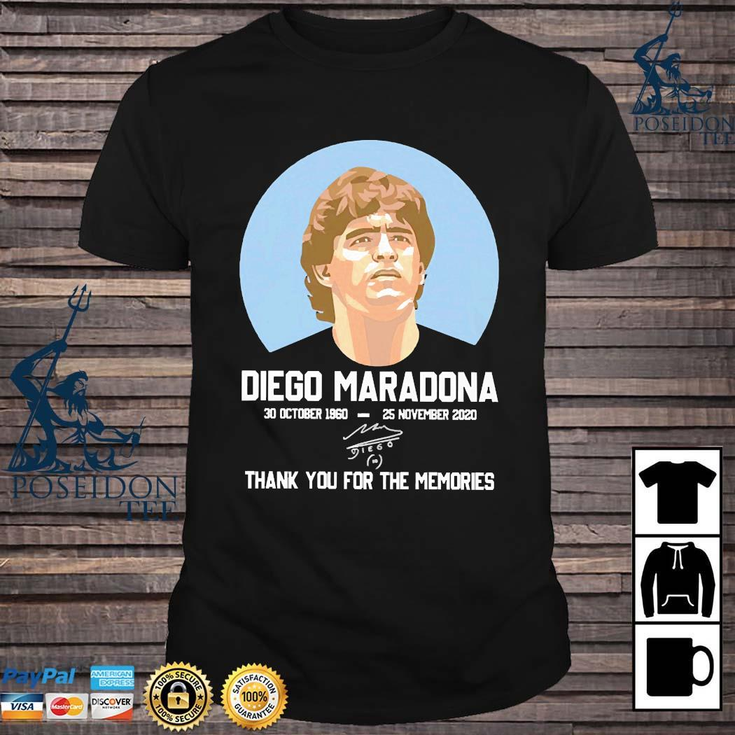 Diego Maradona 30 October 1960-25 November 2020 Thank You For The Memories Signature Shirt
