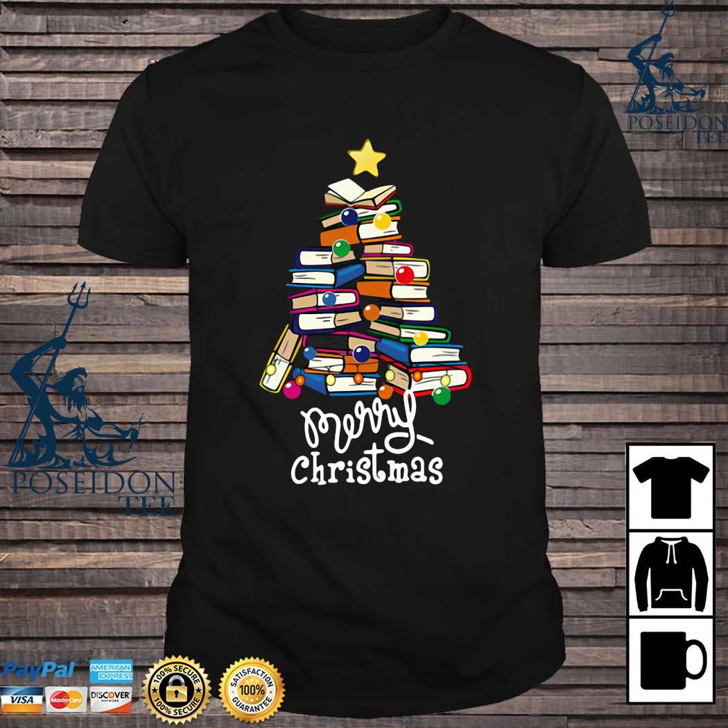 Merry Christmas Librarian Tree Shirt