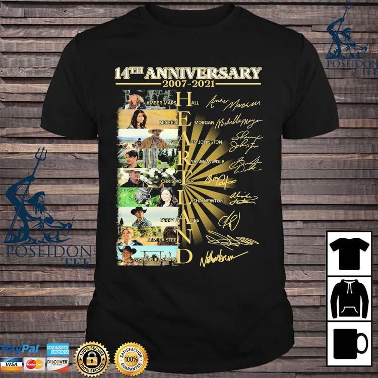 14th Anniversary 2007 2021 Heartland Signatures Shirt