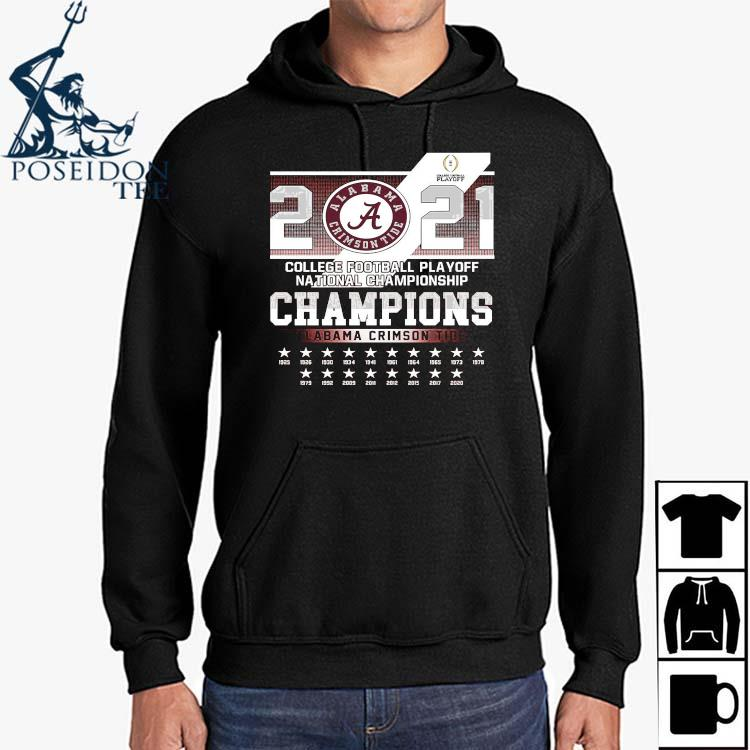 2021 College Football Playoff National Championship Champions Alabama Crimson Tide Shirt Hoodie