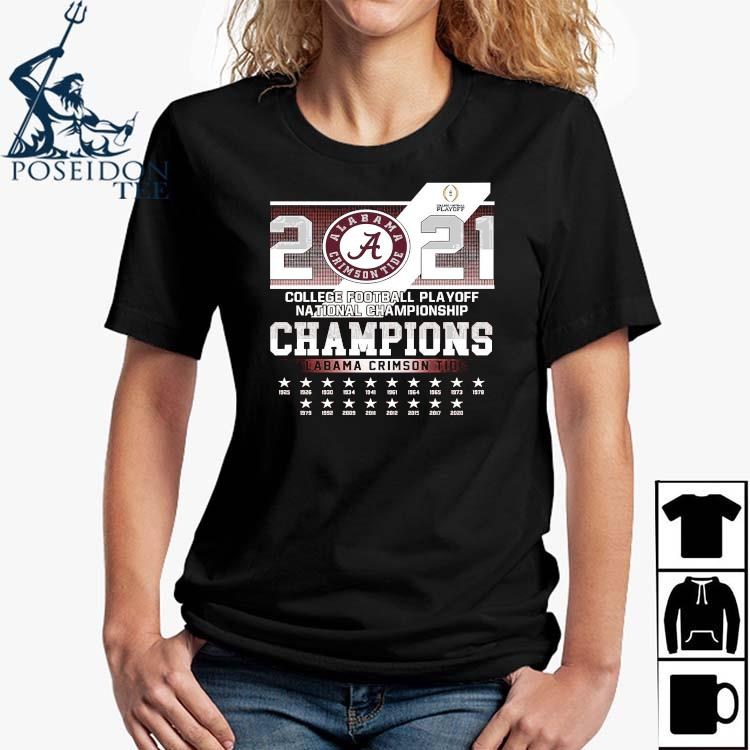 2021 College Football Playoff National Championship Champions Alabama Crimson Tide Shirt Ladies Shirt