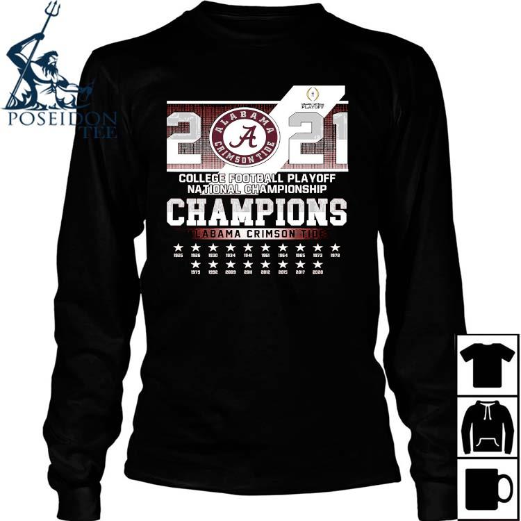 2021 College Football Playoff National Championship Champions Alabama Crimson Tide Shirt Long Sleeved
