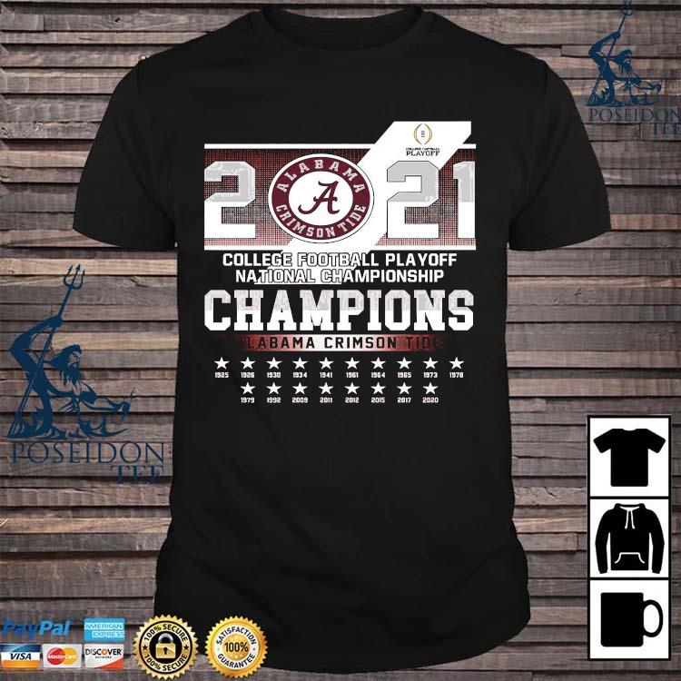 2021 College Football Playoff National Championship Champions Alabama Crimson Tide Shirt