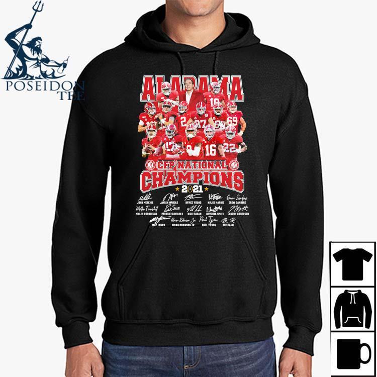 Alabama Crimson Tide CFP National Champions 2021 Signatures Shirt Hoodie