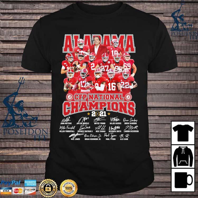 Alabama Crimson Tide CFP National Champions 2021 Signatures Shirt