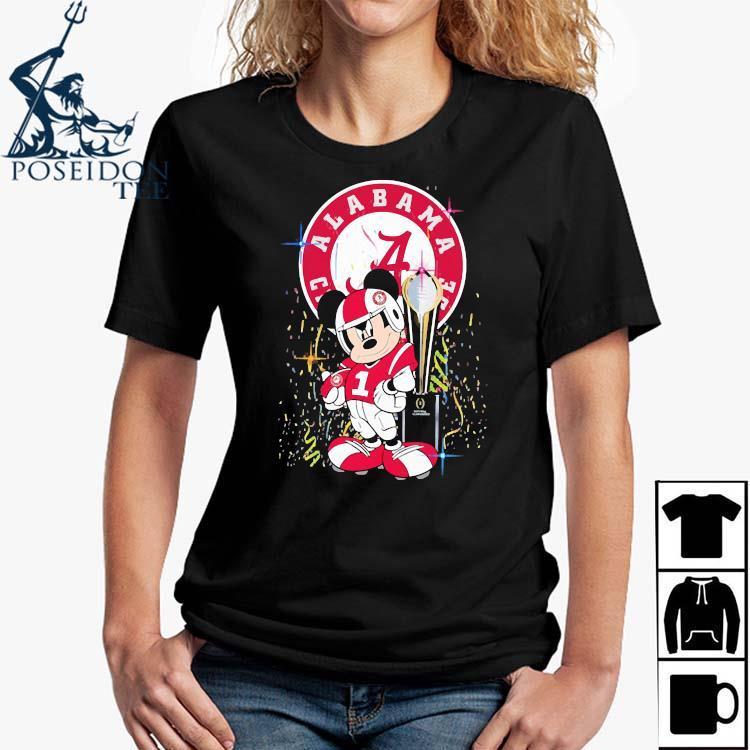 Alabama Crimson Tide Mickey Mouse Shirt Ladies Shirt