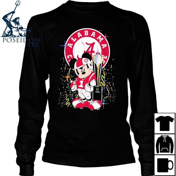 Alabama Crimson Tide Mickey Mouse Shirt Long Sleeved