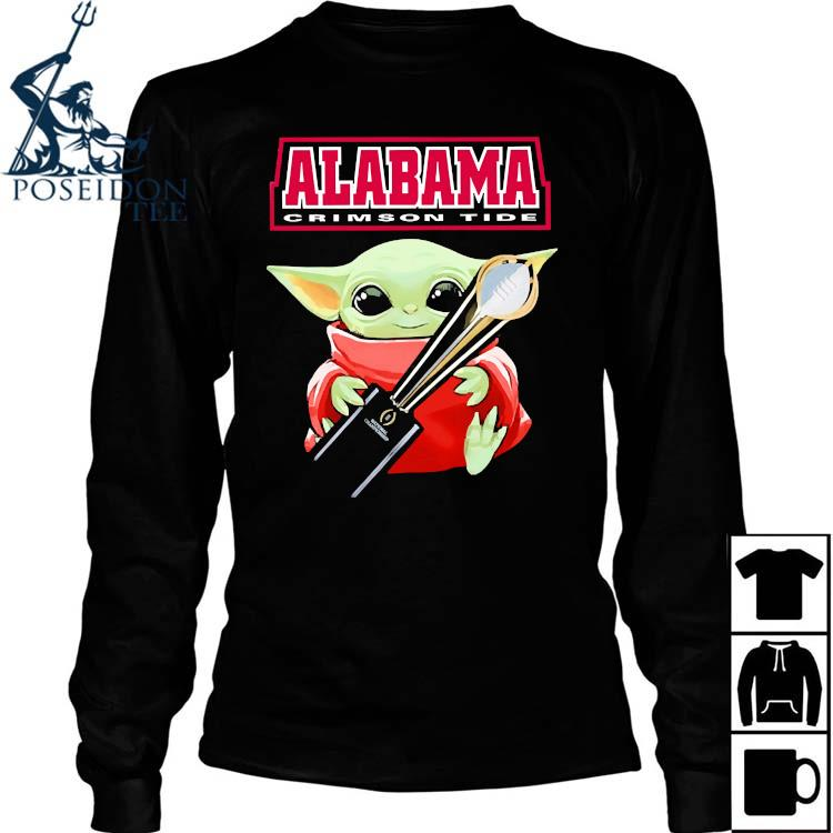 Baby Yoda Alabama Crimson Tide Shirt Long Sleeved
