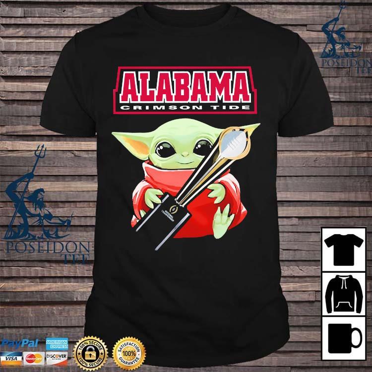 Baby Yoda Alabama Crimson Tide Shirt