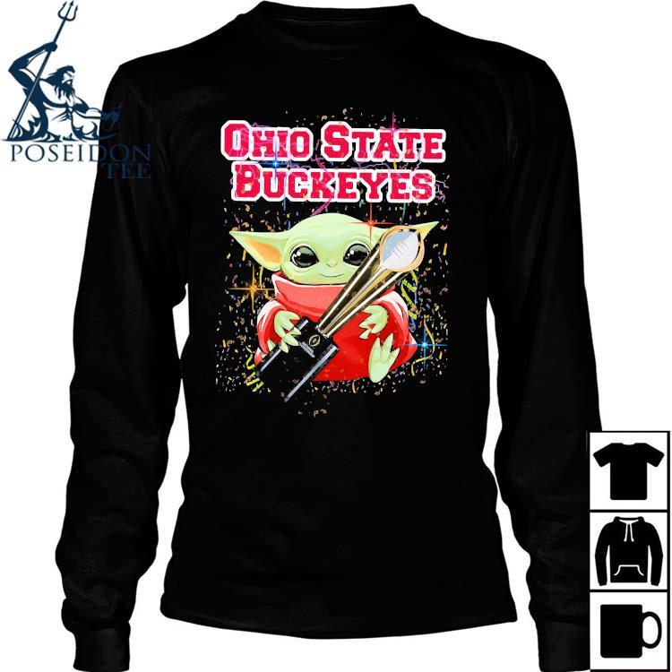 Baby Yoda Ohio State Buckeyes Shirt Long Sleeved