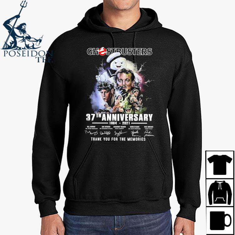 Chestbusters 37th Anniversary 1984 2021 Thank You For The Memories Signatures Shirt Hoodie