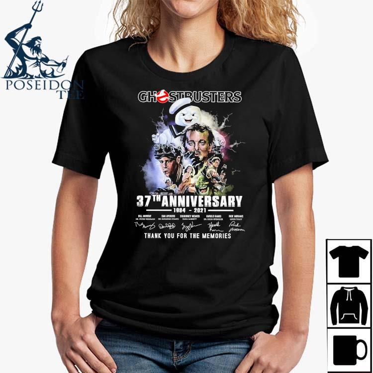 Chestbusters 37th Anniversary 1984 2021 Thank You For The Memories Signatures Shirt Ladies Shirt