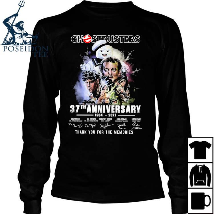 Chestbusters 37th Anniversary 1984 2021 Thank You For The Memories Signatures Shirt Long Sleeved